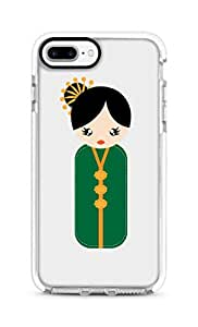 Stylizedd Apple iPhone 7 Plus Cover Impact Pro White Military Grade Dual Layer Case - Japanese Doll