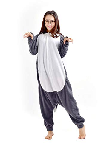 Kigurumi Costume Unisex Cosplay Adulti Lupo Lupo Halloween Pigiama Animale Carnevale rF0rwqpx