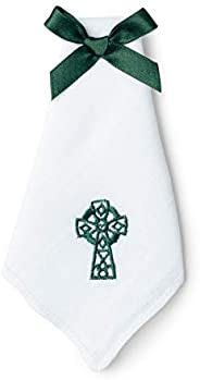 Charles Gallen Ladies Handkerchief With Embroidered Celtic Cross