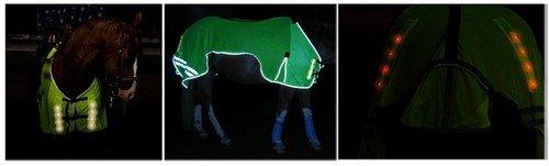 Reflex-Leuchtdecke , Pferdedecke mit eingebauter Beleuchtung , Grö ß e M HUFATEC