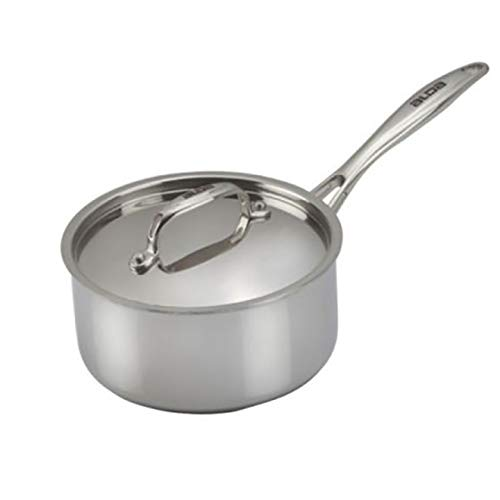 Alda Tri Ply Stainless Steel Sauce Pan with Lid 14cm Induction Friendly Cookware
