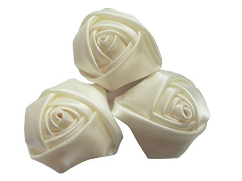 (YYCRAFT Pack Of 20 Satin 4d Rose 2