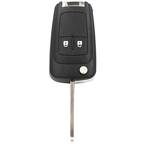 TOOGOO 2 pulsanti 434MHz Con ID46 Patata fritta Auto A distanza Controllo Chiave fob per Chevrolet Aveo Cruze Orlando HU100 Lama