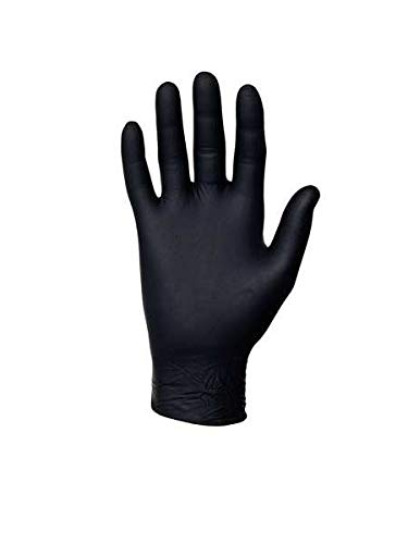 Microflex MK-296-L MidKnight Disposable Exam Glove, Capacity, Volume, Nitrile, Large, Black (Pack of 100)