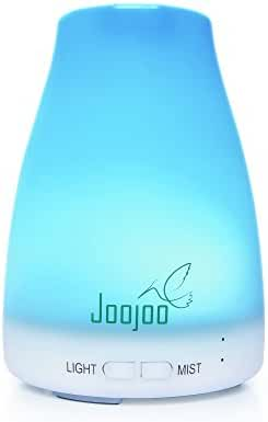 Aromatherapy Essential Oil Diffuser by JooJoo - 7 Color LED Night Light & Cool Mist Humidifier for the Bedroom or Office