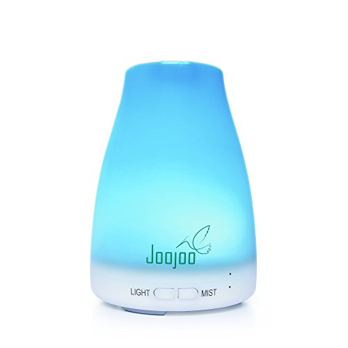 Joojoo-Essential-Oil-Diffuser-7-color-LED-lights-120-mL-Ultrasonic-Portable-Aromatherapy-Cool-Mist-Humidifier-Premium-Quality-Compact-Design-with-Adjustable-Color-Mist-Modes-and-Auto-Shut-off