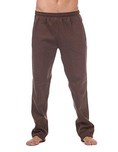 Pro Club Men's Comfort Fleece Pant, Large, Brown