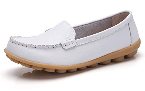 Concise Office Walking VenusCelia Women's Loafer Flat White 4tqE5w
