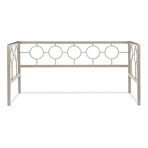 (Leggett & Platt Astoria Metal Daybed Frame with Circle Design Panels and Square Profile, Champagne Finish,)