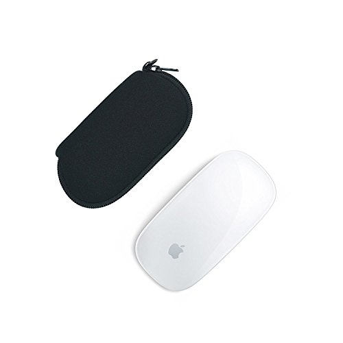 Orchidtent 2 Pcs Black Color Neoprene Soft Storage Carrying Case/Protector/ Bag for Apple Magic Mouse (I and II 2nd Gen)