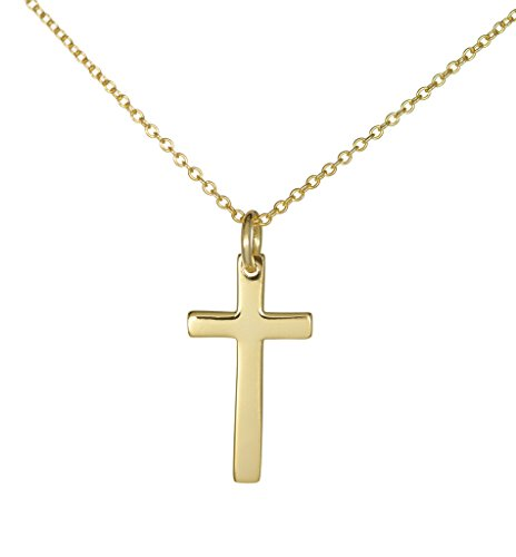 - Gold over Sterling Silver Cross Necklace for Women