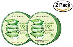 2 Packs of Nature Republic New Soothing & Moisture Aloe Vera 92% Gel, 10.56 Fl Oz