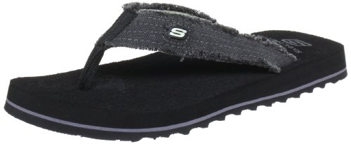 Skechers USA Men's Fray Cotton Thong,13 M US,Black (Best Of The Fray)