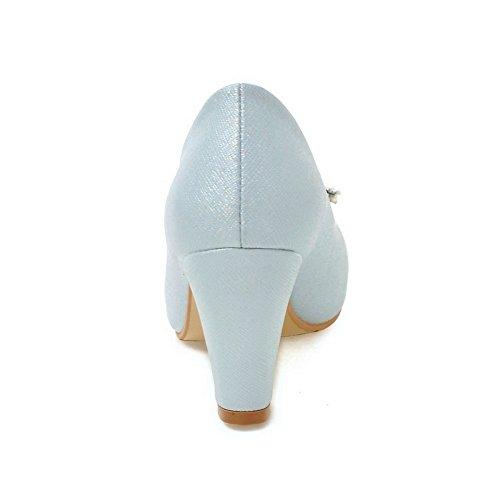 37 para con Azul Zapatillas mujer y de tacones alto tacón punta redonda altos deporte de Odomolor rxxX67Z