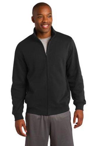 Ae Mens Sweater (Upscale Men's Athletic Full Zip Fleece Sweatshirt - Black,)