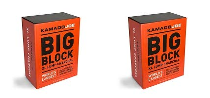 KamadoJoe 20 Pound Big Block Natural Lump Hardwood Charcoal Box (2-(Pack)) by KamadoJoe (Image #1)