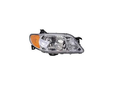Fits 2001-2003 Mazda Protege Head Light Passenger Side MA2503119 4dr For Sedan; w/aluminum bezel - replaces BL8D-51-OKOD