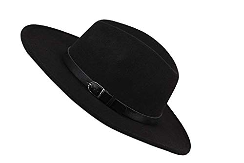 SALT/&SEAS with Belt Womens Wide Brim Wool Fedora Panama Hat Fashion Wild