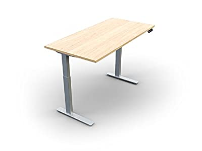 "Workrite Ascent 2 48"" Wide x 24"" Deep Adjustable Desk Tabletop, White Laminate, Silver Base"