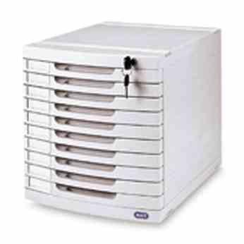 Bürobedarf ablage  Schubladenbox Ablage mit abschliessbarer Büroablage Box 10 Fächer ...