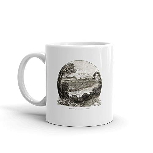 - Roodeye From The Railway Bridge Chester England Victorian Engraving 1840 Cheshire Tea Fun Mug Ceramic 11 Oz