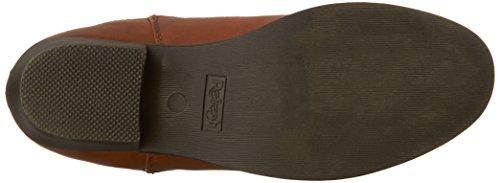 Cognac Riding Heel Toe Simple 02 Flat Refresh Tildon Booties Ankle Women's Almond 7ZOOqP