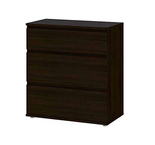 Tvilum 7109420 Aurora 3 Drawer Wide Chest, Coffee by Tvilum