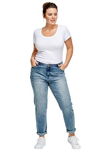 Ellos Women's Plus Size Boyfriend Jeans - Light Stonewash, 18