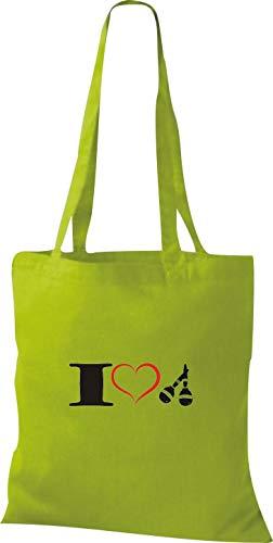 Verde Lima Algodón Shirtstown Tela Amarillo De Bolso Mujer Para nqnRPY8w