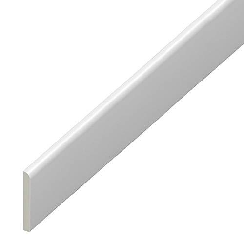 UPVC Plastic Trim 45mm x 1m – White Architrave Skirting Board/Window Finishing Trim