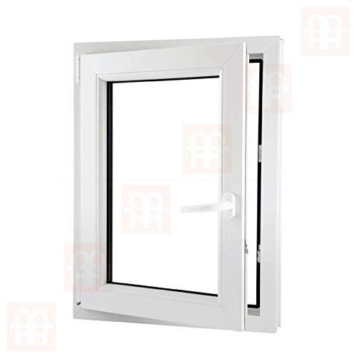 80x100 cm links 6 Kammern   wei/ß Dreh-Kipp-Fenster Kunststofffenster 800x1000 mm