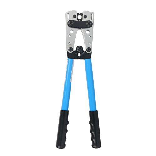 Yaetek Cable Crimper Cable Lug Crimping Tool Wire Crimper Hand Ratchet Terminal Crimp Pliers Wire Terminal Crimping Tool 6-50mm² Cable Lug Crimper Cu/Al Terminal for 10, 8, 4, 2, 1/0 AWG Wire Cable by YaeTek (Image #2)