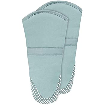 RITZ Royale 051266 Silicone Oven Mitt, 2-Pack, Dew