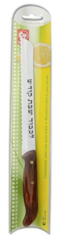 Shabbat Kodesh Pakkawood Challah Knife Gift Sleeve. High Carbon Stainless Steel Serrated Blade by Discount hardware (Image #3)