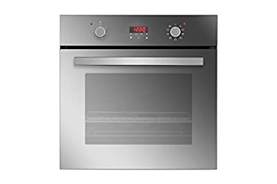 """Empava 24"""" Tempered Glass Electric Built-in Single Wall Oven 2800W 110V, Mirror Glass"""