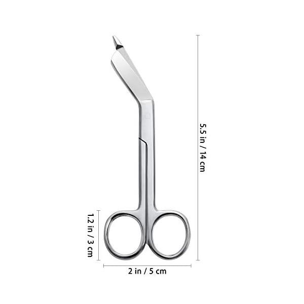 ULTNICE Tijeras de vendaje de acero inoxidable Tijeras de enfermería de 14cm para uso en el hogar médico 6