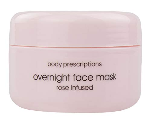 Body Prescriptions Rose Infused Overnight Face Mask, Moisturizing Mask for Face, Beauty Skin Care Mask for Dry Skin, Overnight Facial Mask for Women Hydrating Night Mask with Moisturizer - 3.37 Fl Oz