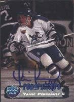 Edge Card Collectors Autographed (Yanic Perreault Phoenix Roadrunners - IHL 1995 Collectors Edge Ice Autographed Card. This item comes with a certificate of authenticity from Autograph-Sports. Autographed)