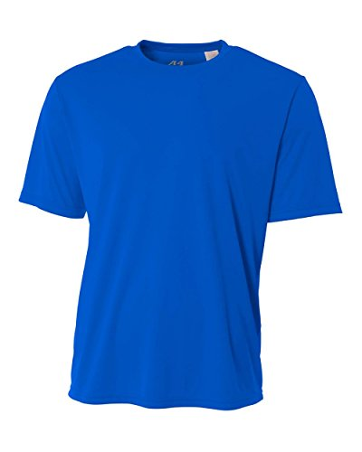 Royal Blue Youth Large Short Sleeve Wicking Cool & Comfortab