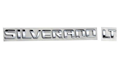 Aimoll 1pc Silverado LT Nameplate Letter Emblem,Badge 3D Emblem 1500 2500HD 2011-2015 Silverado Chevrolet (Chrome)