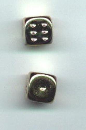 Gold Plated Dice (D6 16mm Gold-Plated (2) MINT/New)
