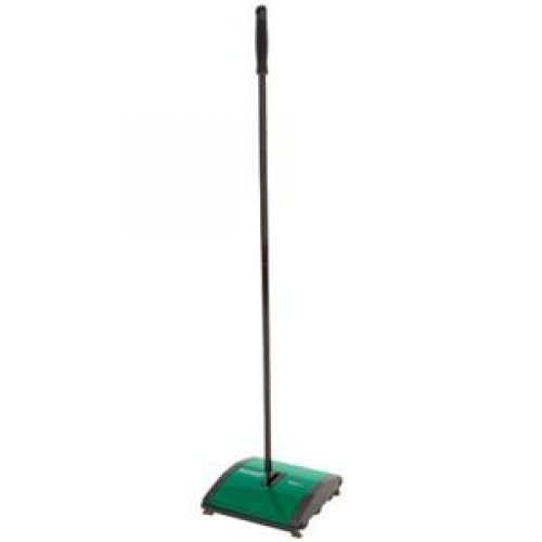 EDMAR CORPORATION #BG23 Bissel Commercial Sweeper with corner brushes, floating head and dual debris dustpan. Sweeper twin tufted/twisted brushes.