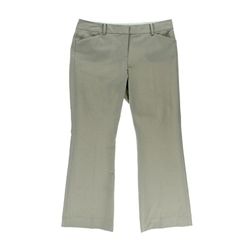 Anne Klein Women's Slight Flare Leg Woven Pocketed Dress Pant (2P, Neutral)