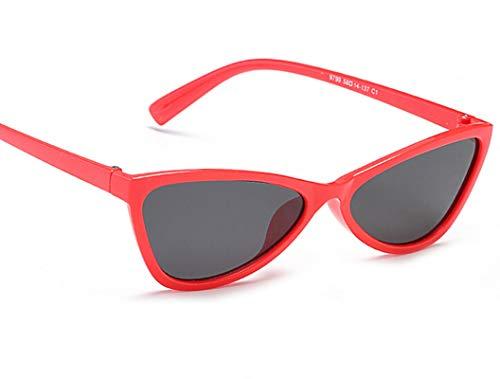 (AmDxD Unisex Polarized Sunglasses AC Lens Cat Eye Full Frame Retro Glasses UV400 Protection for Driving,Hiking,Sports Red Gray)