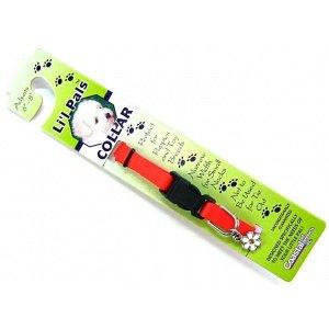 Coastal Pet Li`l Pals Adjustable Nylon Dog Collar (Red, 6-8 Inch L x 5/16 Inch W) ()