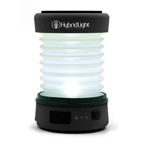 - Hybridlight Solar Rechargeable Lantern/Cell Phone Charger. 150 Lm. Built in Solar Panel, Hi-Vis (Black)