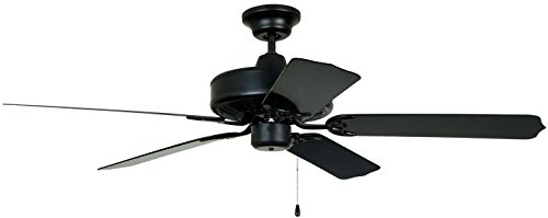 Craftmade Outdoor Ceiling Fan END52MBK5P Cove Harbor 52 Inch Fan for Patio, Matte Black ()