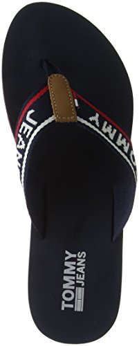 Sandal Azul Beach 406 Tommy Chanclas Jeans Para Mujer Navy Low tommy 7qF0twEg