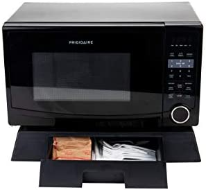 Mind Reader Under Microwave Storage Drawer Heavy Duty, Mulit-Purpose Stand, Black