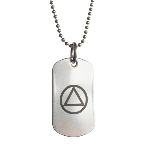 Aa Alcoholics Anonymous Unity Symbol Stainless Steel Dog Tag